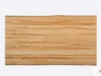 Blat jesionowy lakierowany z naturalnymi krawędziami