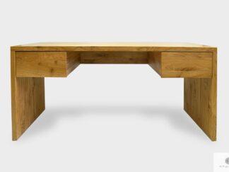 Biurko dębowe masywne z szufladami z litego drewna do gabinetu DAVOS I