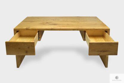 Eleganckie biurko dębowe z szufladami na wymiar do gabinetu DAVOS I