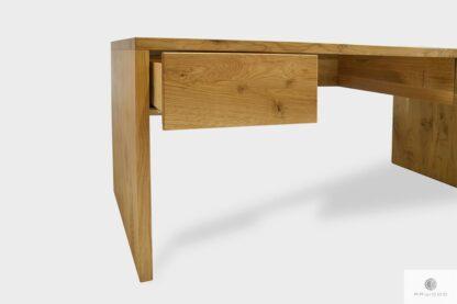 Eleganckie dębowe biurko z litego drewna z szufladami do gabinetu DAVOS I