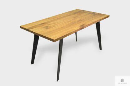 Industrialny stół dębowy z dostawkami do jadalni CORTEZ