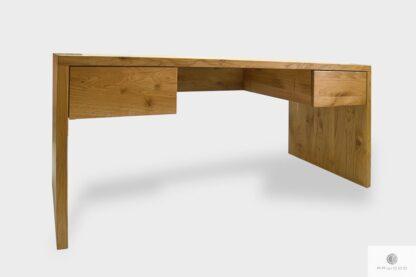 Nowoczesne biurko dębowe masywne z szufladami do gabinetu DAVOS I