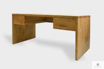 Nowoczesne biurko dębowe z szufladami na zamówienie do biura DAVOS I