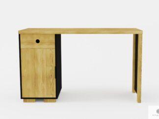 Nowoczesne biurko z litego drewna dębowego do gabinetu CARLA