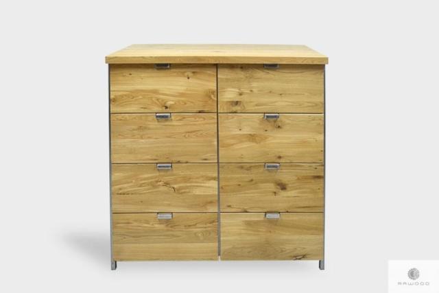 Dębowa komoda z szufladami na zamówienie do salonu HUGON