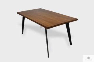 Industrialny stół z drewnianym blatem i metalowymi nogami do jadalni CORTEZ