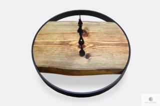 Industrialny zegar ścienny z drewna litego na zamówienie