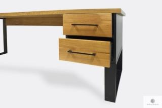 Nowoczesne dębowe biurko z szufladami na zamówienie do gabinetu GORAN II