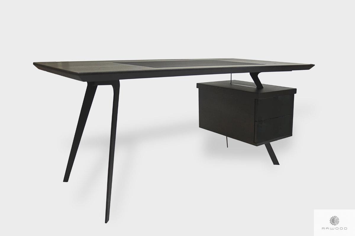 Nowoczesne dębowe czarne biurko z szufladami do gabinetu VITA