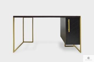 Nowoczesne biurko z litego drewna dębowego do biura gabinetu CARIN I
