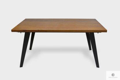 Stół dębowy z dostawkami na metalowych nogach CORTEZ