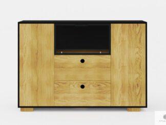Designerska komoda nowoczesna z drewna z szufladami do salonu CARLA
