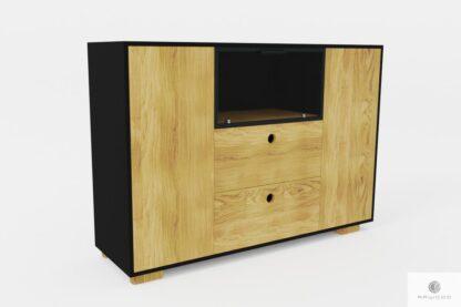 Drewniana komoda z szufladami na wymiar do sypialni CARLA