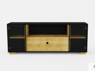 Nowoczesna szafka RTV pod telewizor drewniana do salonu CARLA