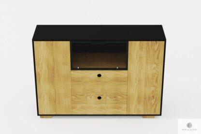 Stylowa komoda z drewna litego i płyty do salonu CARLA