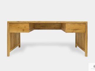 Biurko dębowe z szufladami z litego drewna do gabinetu DAVOS II