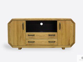 Nowoczesna szafka RTV dębowa z szufladami do salonu OMNIS II